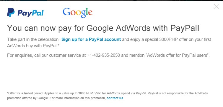 Adwords Menerima Pembayaran PayPal
