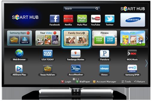 Samsung Smart TV Courtesy: www.samsung.com