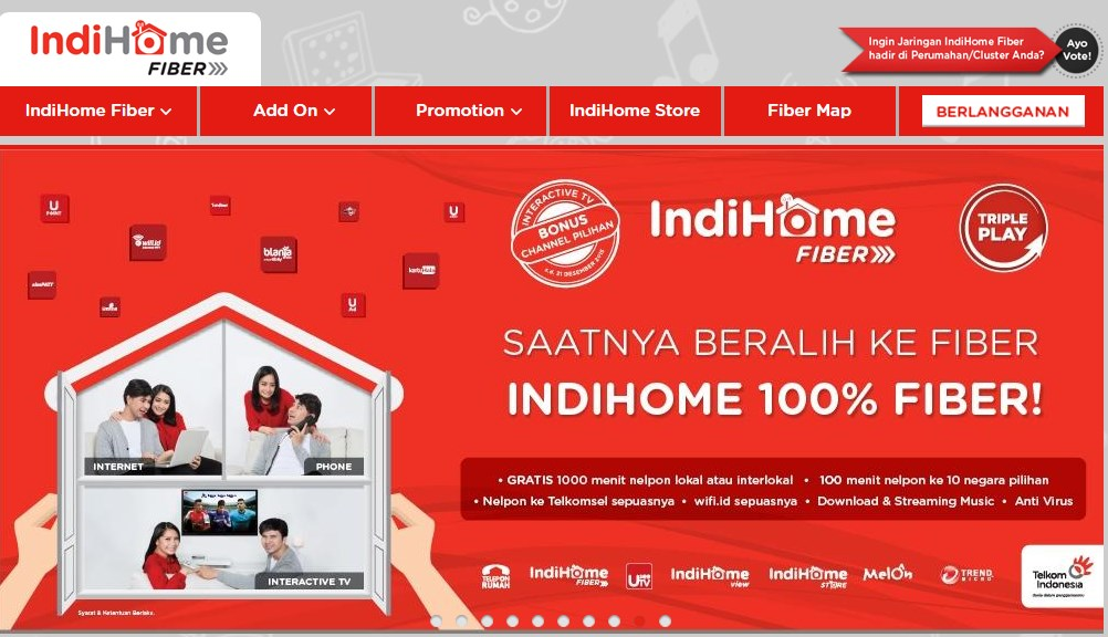 Courtesy: Screenshot www.indihome.co.id