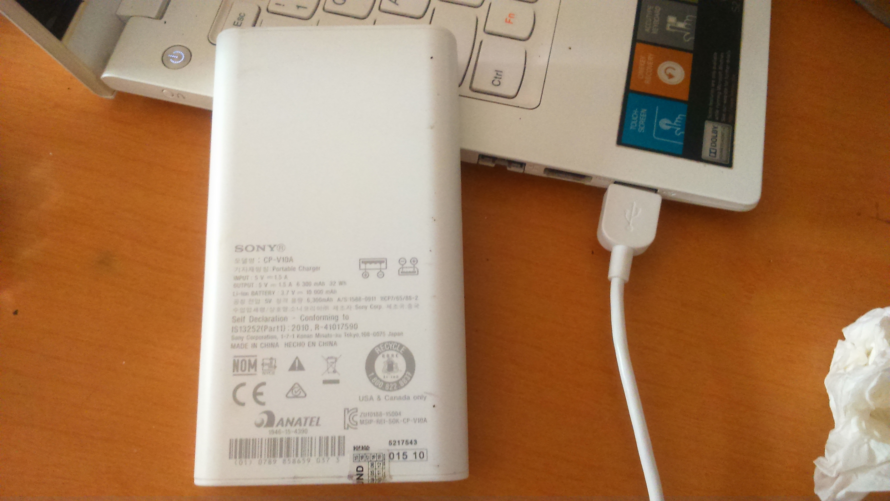 Powerbank Sony CP-V10 1000 mAH 2