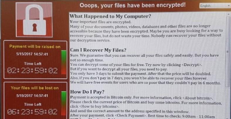 Ransomware WannaCry yang meminta tebusan